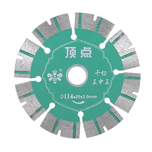(ZCHXD 4-1/2 Inch Diamond Saw Blades Segmented Rim Cutting General Purpose for Granite and Marble Green)