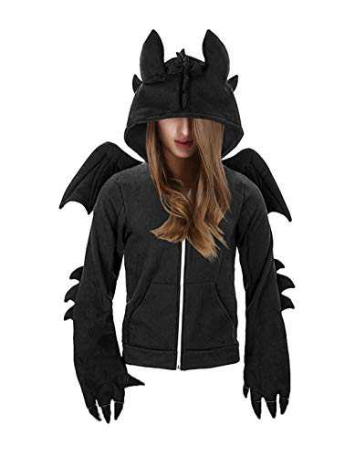 kaguster Unisex-Adult Animal Hoodie Costume (S, Toothless)]()