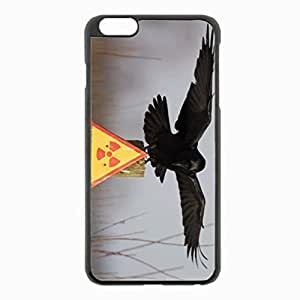iPhone 6 Plus Black Hardshell Case 5.5inch - plate crow warning danger Desin Images Protector Back Cover