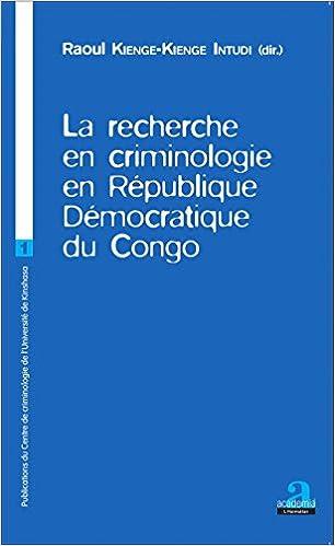 Livre gratuits La recherche en criminologie en République Démocratique du Congo epub, pdf