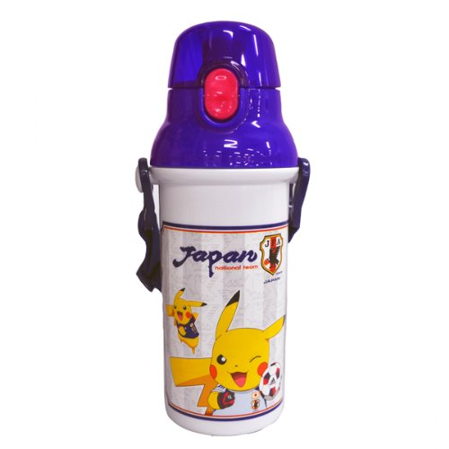 480ml Plastic one-touch bottle Pokemon Representative of Japan White PSB5SAN