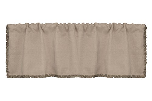 Abbey Valance (Heritage Lace Downton Abbey Ruffled Luxury Valance, 54 by 16-Inch, Natural)