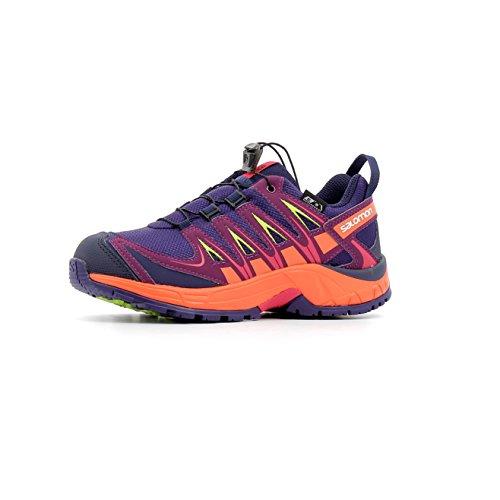 Salomon XA Pro 3D CSWP J, Zapatillas de Running Unisex Niños Morado (Parachute Purple/Nasturtium/Virtual 000)