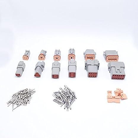 6 conjuntos DT06//DT04 2//3//4//6//8//12 Pin Conector impermeable caja de cambios de motor