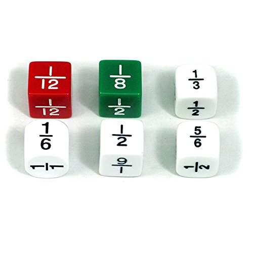 KOPLOW GAMES INC. FRACTION DICE SET OF 6 (Set of 12) by Koplow Games