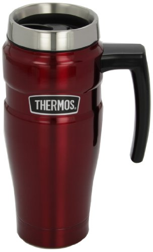 Thermos Stainless Travel Handle Cranberry