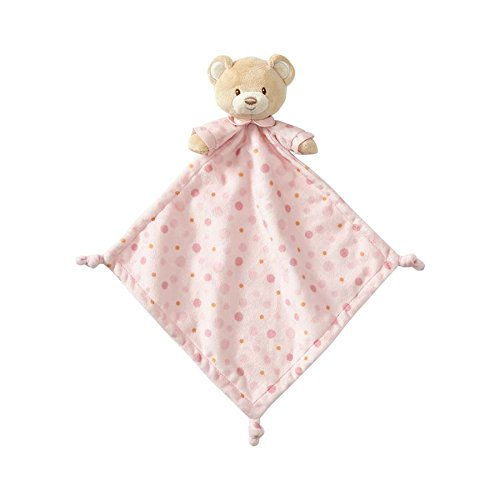 Beginnings by Enesco Plush Baby Bear Lovey Blanket, 16 inches, Pink
