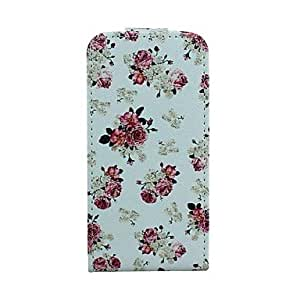 QJM Roses Pattern Full Body Case with Stand for iPhone 5C