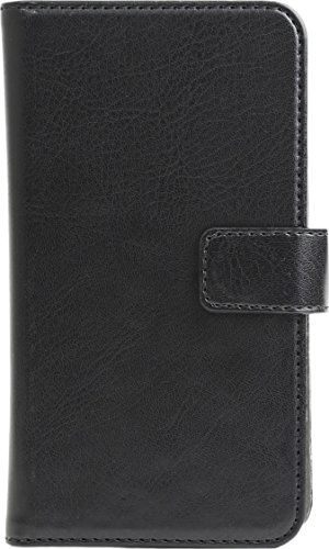 Black Skech Universal Wallet Case cover for Mobile Phone 4.1-4.7