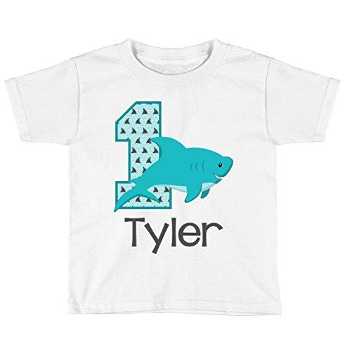 Boys Shark Birthday Shirt Any Age | Personalized