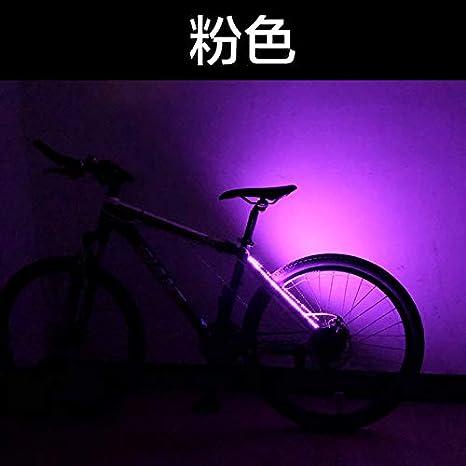 PLANQING Bicicleta Decoración Rueda Luces,Bicicleta Luces Traseras Decorativas Bicicleta De Montaña Luz De Advertencia Cuadro Luces Traseras Pegadas, Seguridad Y Advertencia, Luz Rosa: Amazon.es: Deportes y aire libre