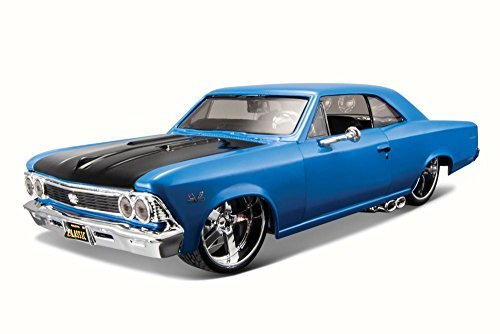 Maisto 1966 Chevy Chevelle SS 396, Blue 31333-1/24 Scale Diecast Model Toy Car ()