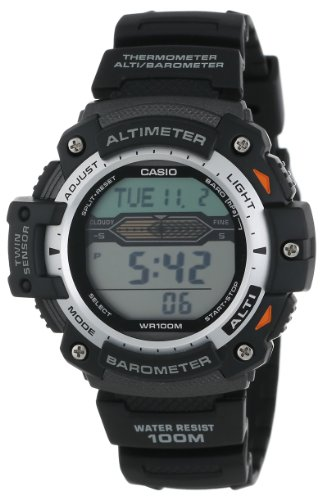 Casio Men's Twin Sensor Multifunction Digital Sport Watch Black SGW300H-1AVCF