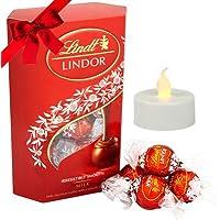 Vending India Diwali Chocolate Gift Hamper with LED Diya (Lindt Exotic Milk Truffle Gift Box 200g)