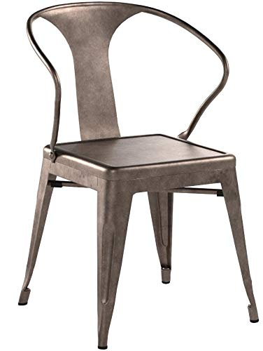 Tabouret Stacking Chair (Set of 4). This Set Of Dining Room Chairs Is Perfect For Adding A Vintage Look To Your Home. Crafted With A Solid Steel Construction And Coated With A Scratch-Resistant Finish These Chairs Will Last In Quality In Style. by Tabouret