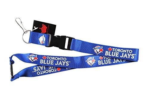(aminco MLB Toronto Blue Jays Clip Lanyard Keychain Id Holder Ticket)