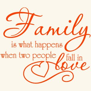 Family Love Quote Vinyl Wall Decal Sticker Art Words Lettering Home Decor
