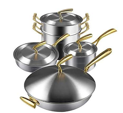Juego de ollas Combinación 304 de acero inoxidable Sartén ...