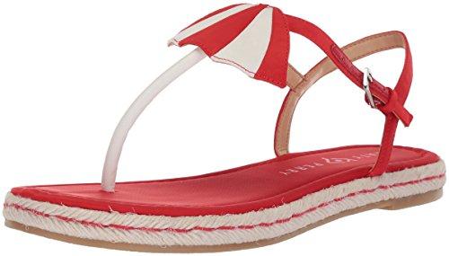 Katy Perry Women's The Shay Flat Sandal, Spanish Red, 8 Medium US