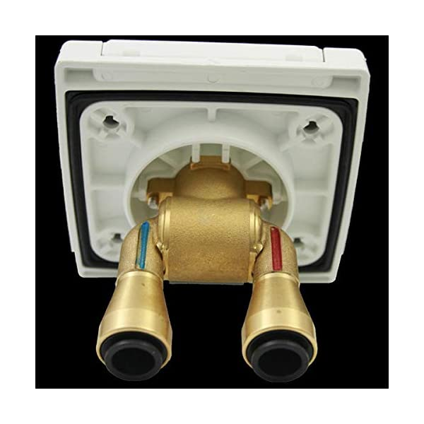 41HObseECiL Wasser Außensteckdose Außendusche Versorgungsklappe Wohnmobil Wohnwagen Dusche Mischbatterie weiß