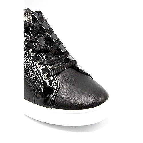 Delicado Para Www Negro Mujer Piel Guess De Zapatillas ZqwfarZ