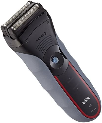 Braun Series 3-320 - Afeitadora (Papel aluminio, Negro, Rojo, Batería/Corriente, Níquel-Hidruro metálico (NiMH), 1h, 45 min): Amazon.es: Salud y cuidado personal