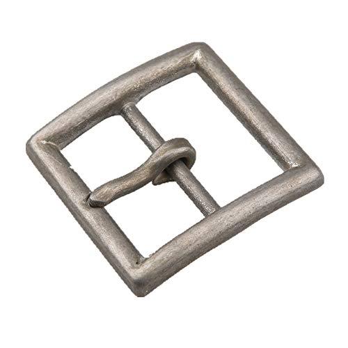 kokungkuan Men's Square Center Bar Belt Buckle Stonewash Stainless Steel for 1.5
