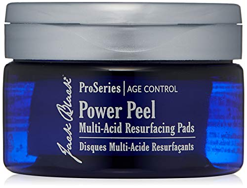 JACK BLACK - Power Peel Multi-Acid Resurfacing Pads - ProSeries Age Control, with UGL Complex and Niacinamide, Exfoliates, Resurfaces and Helps Firm and Brighten Skin, 40 Count ()