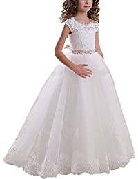 GU ZI YANG Girl's Flower First Communion Wedding Birthday Dress for Girl 10