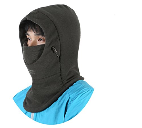 Men's and Women's Winter Windproof Cap Thick Double Warm Face Cover Cap Cycling Skiing Hat Balaclava Outdoor Sports (Cap Balaclava)