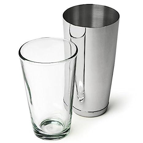 White 28oz Weighted Boston Cocktail Shaker Tin