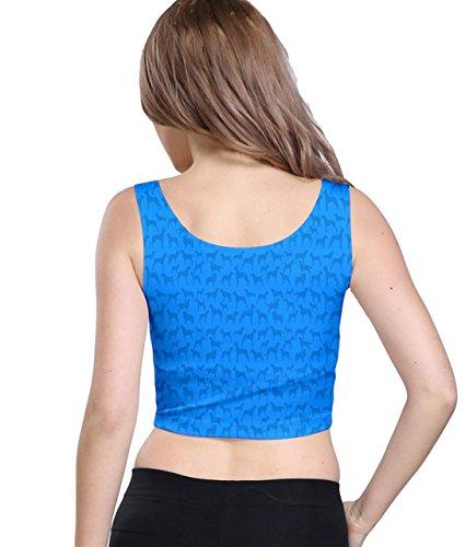 CowCow - Camiseta sin mangas - para mujer Azul