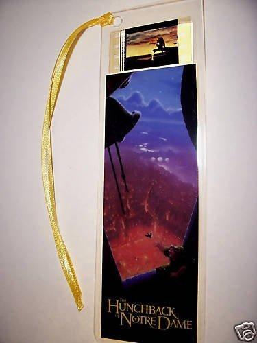 HUNCHBACK OF NOTRE DAME movie film cell bookmark memorabilia collectible disn...