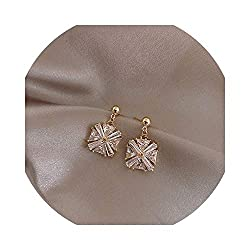 Luxury Crystal Zircon Small Square Earring
