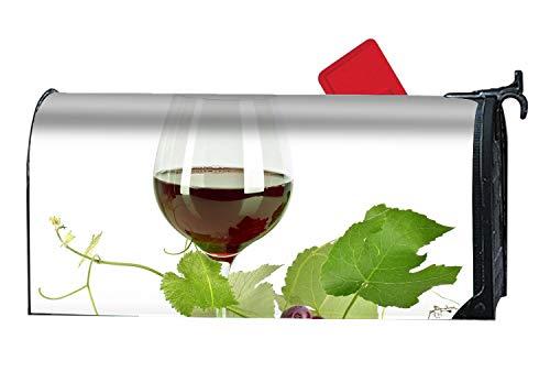 MALBX Purple Wine Magnetic Mailbox Cover Christmas Snowman Standard ()