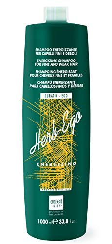 Ever Ego Italy Energizing Shampoo For Thinning, Fine and Weak Hair   Stimulating and Revitalizing Hair Care Product For…