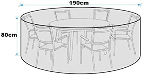 Round Outdoor Table Cover Outdoor Dining Table Cover Silvotek 420D Heavy Duty Canvas Round Patio Table Covers Waterproof Outdoor Patio Furniture Covers with Durable Hem Cord