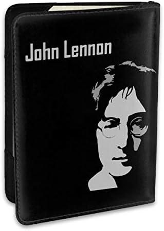 ジョン・ウィンストン・レノン John Winston Lennon パスポートケース メンズ 男女兼用 パスポートカバー パスポート用カバー パスポートバッグ ポーチ 6.5インチ高級PUレザー 三つのカードケース 家族 国内海外旅行用品 多機能