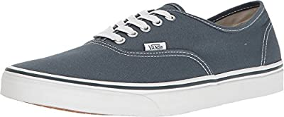 Vans Unisex Authentic Sneaker Dark Slate/True White Size 12 M US Women / 10.5 M US Men