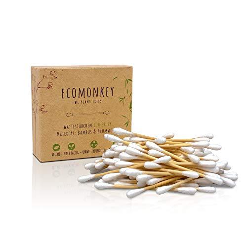 Bambus Wattestäbchen in ✮ Premium Qualität ✮ Plastikfrei ✮ Biologisch Abbaubar ✮ Vegan ✮ Kompostierbar ✮ Nachhaltig…
