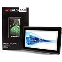 Sdeals QuadCore A33 Google Android 4.4 KitKat Tablet PC with Touchscreen, 8 gb inner storage Bluetooth, HD 0.3MP Dual Camera with flash, Google Play Pre-loaded, 3D-Game Supported (BLACK)