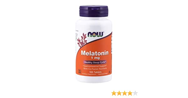 MELATONIN, 1 mg, Tr Complex 100 Tabs by Now Foods (Pack of 2)