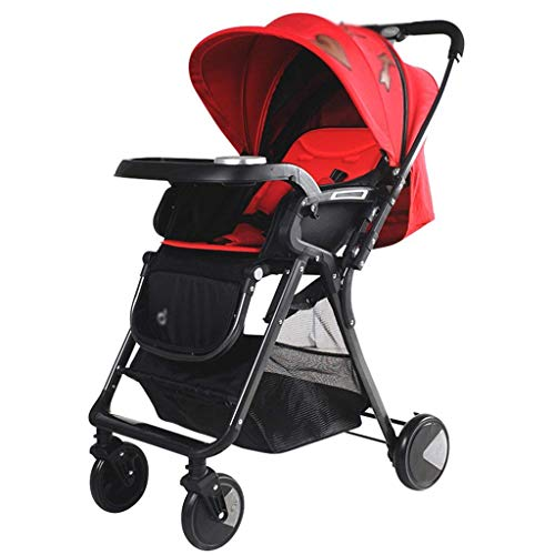 PLDDY Standard Folding Pushchair with Compact One Hand Fold, Lockable Wheels & Spacious Adjustable Hood