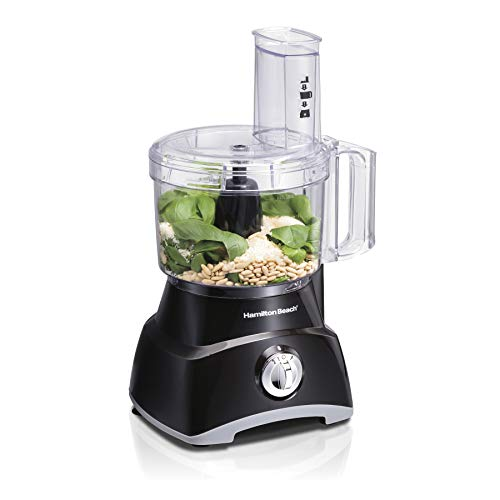 Hamilton Beach Food Processor, Slicer and Vegetable Chopper with Compact Storage, 8 Cups (70740), Black -