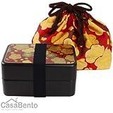 CasaBento - Boîte à Bento Makie & Sakura Dorées + Sac