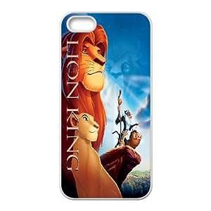 LION KING para el funda iPhone 5 5s funda del teléfono celular de cubierta blanca