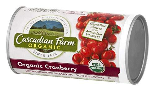 Orange Juice Concentrate - Cascadian Farm Organic Cranberry Juice, 12oz Can Frozen Concentrated Juice Cocktail, Pasteurized, Non-GMO