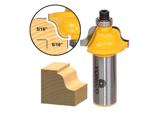 Yonico 13182 Roman Ogee Edging and Molding Router Bit with Small 12-Inch Shank