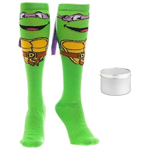 Teenage Mutant Ninja Turtles Womens' Donatello Knee High Sock & Gift Tin (9-11) ()