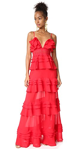 Glamorous Women's Tiered Dress, Red, Small